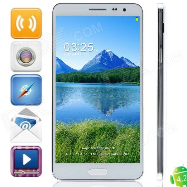 N9800 MTK6592 Octa-Core Android 4.2.2 WCDMA Bar Phone w/ 5.7 IPS HD, Wi-Fi, OTG, GPS - White zopo zp1000 android 4 2 octa core wcdma bar phone w 5 0 screen wi fi and rom 16gb blue black
