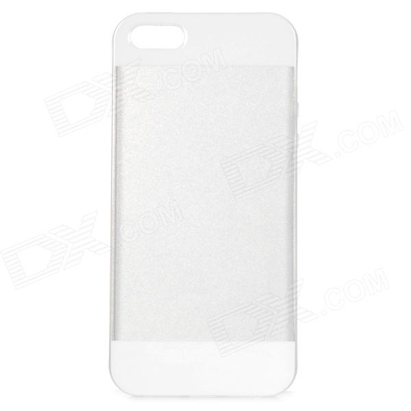 Protective TPU Back Case for IPHONE 5 / 5S - White + Transparent creative usb rechargeable cigarette lighter protective back case for iphone 5 5s silvery white