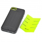 AILEN SJ01 Protective TPU + PC Back Case w/ Card Slot for IPHONE 5 / 5S - Black + Light Green