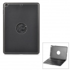 Flip Open Bluetooth V3.0 78-key Keyboard w/ Case for IPAD AIR - Black + Antique Silver