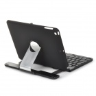 YD K362 Flip Open Bluetooth V3.0 78-Key Keyboard w/ Rotary Back Case for IPAD AIR - Black