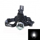 KINFIRE A6 CREE XM-L2 800lm 3-Mode White Headlight - Black (2 x 18650)