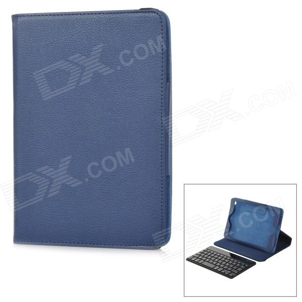 Bluetooth V3.0 59-Key Keyboard w/ Detachable Case for IPAD MINI 2 - Dark Blue + Black