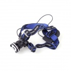 YP-3917 Outdoor Cree XP-E Q5 250lm 3-Mode White Headlamp - Black + Dark Blue (1 x 18650)