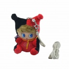 Plush Doll stil 6000mAh Portable Mobile Power Source Band for IPHONE + More - Svart + Red