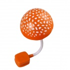 1.2W 40lm 6000K 4-LED Varient Light Control Mushroom Lamp - Orange + White