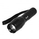 Holyfire A2 LED 800lm 5-Mode Cool White Zooming Flashlight - Black (1 x 18650 / 3 x AAA)