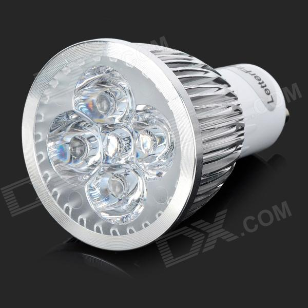 LetterFire LZ-06 GU10 5W 5-LED Lamp Housing - Silver + White (85~265V)
