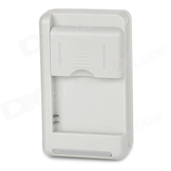 GOP38  US Plug Battery Charger Cradle w/ USB Outlet for GoPro Hero 2 / 1 - White (100~240V)