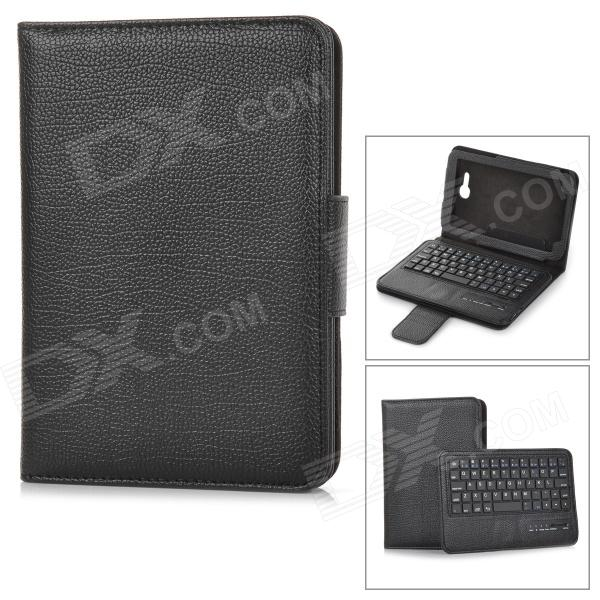 Detachable Bluetooth V3.0 57-Key Keyboard w/ Flip Open Case for 7'' Samsung Galaxy Tab3 Lite T110 universal 61 key bluetooth keyboard w pu leather case for 7 8 tablet pc black