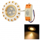 Xianqin 3W 270lm, 3000K, 3-LED Warm White Light Deckenleuchte - Weiß + Gold (AC 170 ~ 260V)