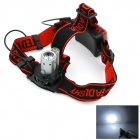 WaLangTing XP-E R2 180lm 2-Mode White Headlamp - Black + Red (3 x AAA)