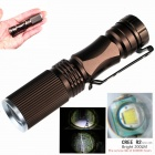 ZSJ-B18 6500K 200lm 3-Mode Mini White Light Zooming Flashlight - Coffee (1 x 14500)
