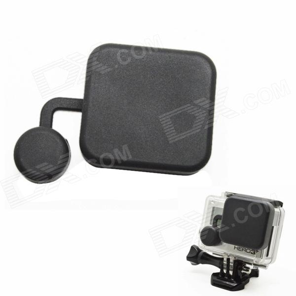 BZ118 Protective Silicone Lens Cover for GoPro Hero 3+ - Black silicone protective cover skin for gopro hero 3 camera