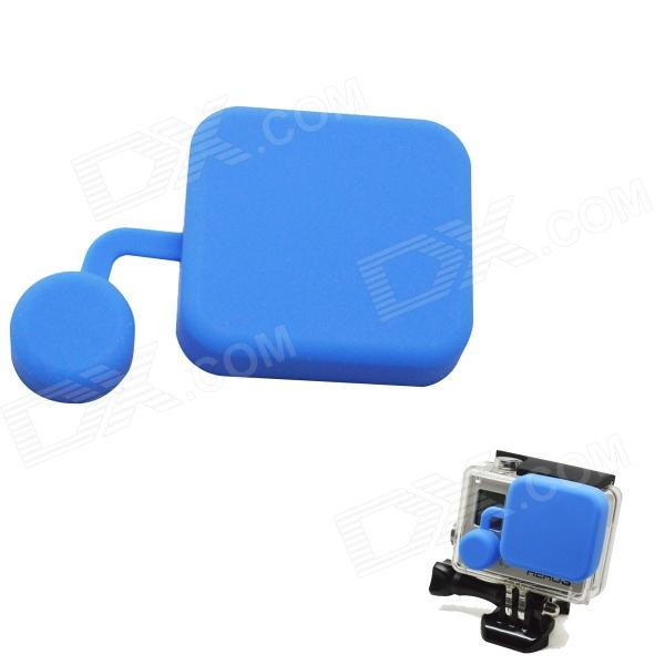 BZ118 Protective Silicone Lens Cover for GoPro Hero 3+ - Blue silicone protective cover skin for gopro hero 3 camera