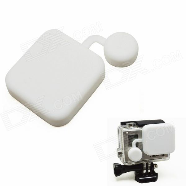BZ118 Protective Silicone Lens Cover for GoPro Hero 3+ - White