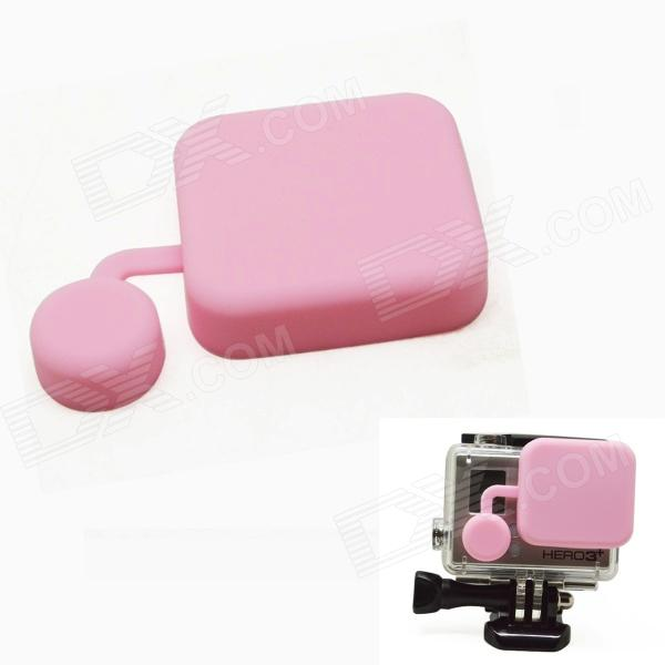 BZ118 Protective Silicone Lens Cover for GoPro Hero 3+ - Pink bz118 protective silicone lens cover for gopro hero 3 pink