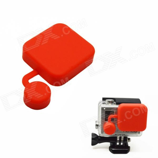 BZ118 Protective Silicone Lens Cover for GoPro Hero 3+ - Red silicone protective cover skin for gopro hero 3 camera