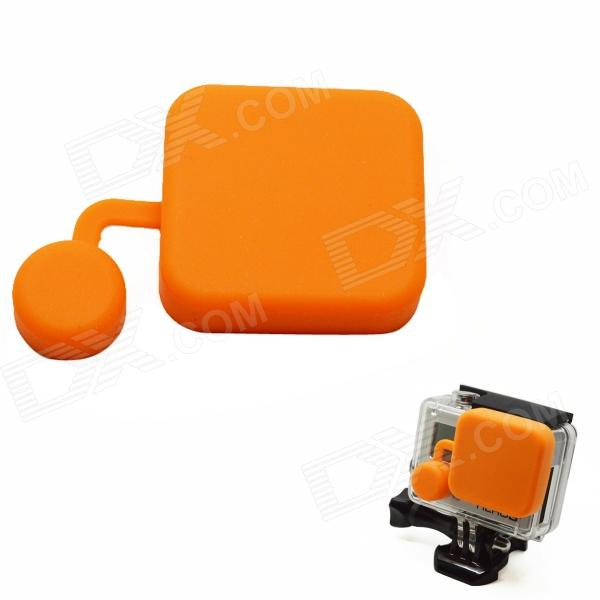 BZ118 Protective Silicone Lens Cover for GoPro Hero 3+ - Orange автоакустика kenwood kfc ps704p