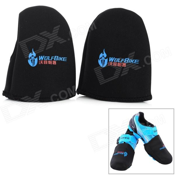 WOLFBIKE BC306 Cycling Windproof Warm Shoes Front Covers - Black (2 PCS) икона янтарная семистрельная кян 2 306