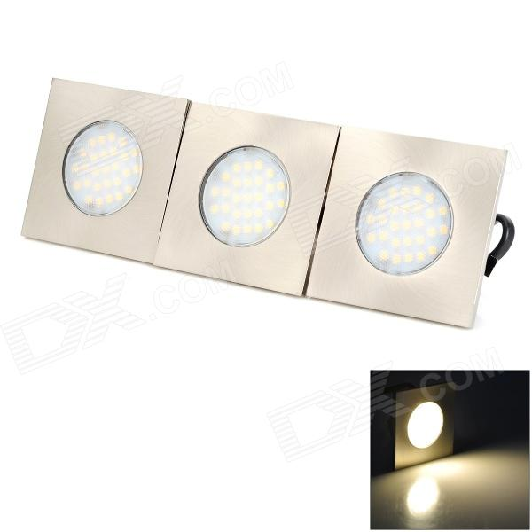 FM-0839B 5W 120LM 3300K Warm White 27-LED Corridor / Ceiling Lamp - Silver (3 PCS) - DXCeiling Light<br>Color Silver Color BIN Warm White Quantity 3 Set Material Electronics + stainless steel Power 5W Rated Voltage AC 220 V Emitter Type LED Total Emitters 27 Actual Lumens 120 lumens Color Temperature Others3000~3300K Dimmable no Packing List 3 x Lights (30cm wire)<br>