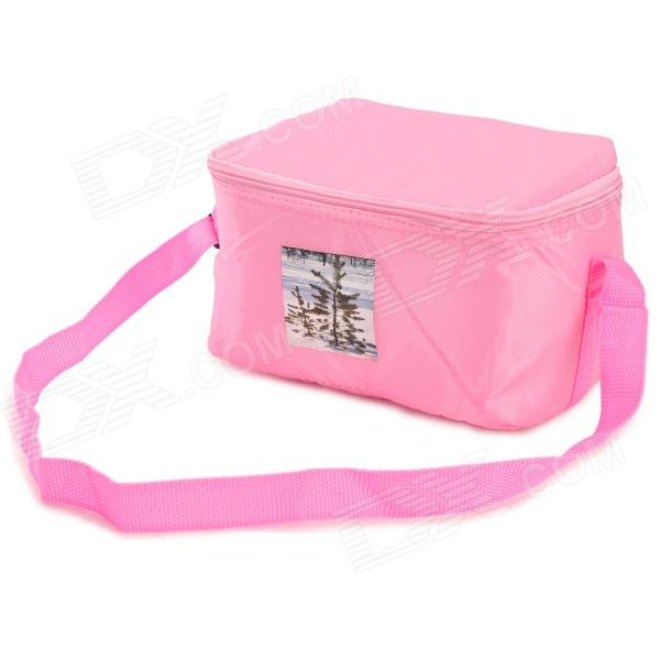 Creeper Outdoor Oxford + Aluminum Film Warm / Cool Insulation Shoulder Bag - Pink