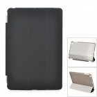 Stylish Flip-open PC Back Case w/ Folding PU Cover Stand + Auto Sleep for IPAD MINI - Black