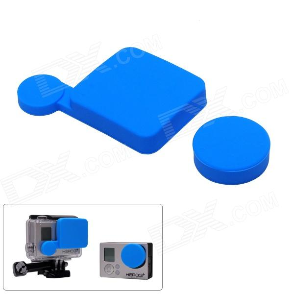 Fat Cat A-LC3+ Professional Silicone Protective Lens Cap Set for Gopro Hero 4/ 3+ / Hero3 Plus - Blue elastic wrist belt silicone protective case for gopro hero3 3 wi fi remote control blue