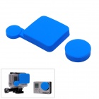 Fat Cat A-LC3+ Professional Silicone Protective Lens Cap Set for Gopro Hero 4/ 3+ / Hero3 Plus - Blue