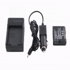 Decoding EN-EL14 Battery + Car / AC Digital Camera Travel Battery Charger for Nikon - Black