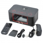 A8S Touch Panel Radio Alarm Clock Speaker System with Bluetooth for Samsung - Black + Red