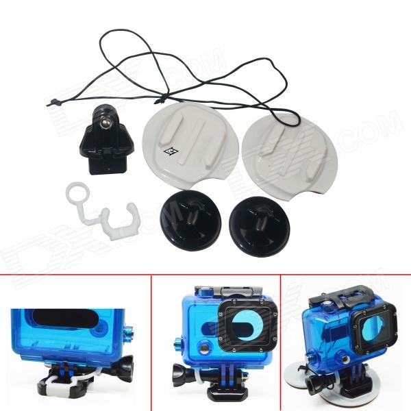 BZ101 Surfboard Mount Set for GoPro Hero 3 / 3+ / SJ4000 - White + Black wrist band mount strap for gopro hero3 sj4000 camera