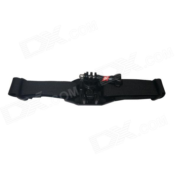 BZ04B 360 Degrees Helmet Strap for Gopro Hero 4/ 2 / 3 / 3 + / SJ4000 - Black цена и фото
