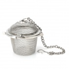 Mini Stainless Steel Tea Filter - Silver
