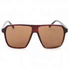 Stylish Retro UV400 Protection Sunglasses w/ Cellulose Acetate Frame / Resin Lens - Coffee + Tawny