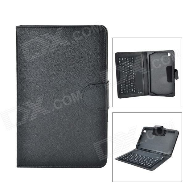 Bluetooth V3.0 77-Key Keyboard w/ Flip Open Case for 8.4'' Samsung Galaxy Tab Pro T320 - Black universal 61 key bluetooth keyboard w pu leather case for 7 8 tablet pc black