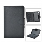 Bluetooth V3.0 77-Key Keyboard w/ Flip Open Case for 8.4'' Samsung Galaxy Tab Pro T320 - Black