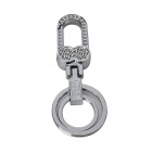 OMUDA XZX10 Double Ring Keychain - Silver