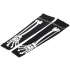 Northwave Skeleton Sun-proof Polyester + Spandex Cycling Oversleeves - Black + White (L / Pair)