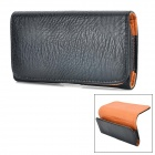 Protective PU Leather Waist Mount Case for Samsung Galaxy S5 - Black