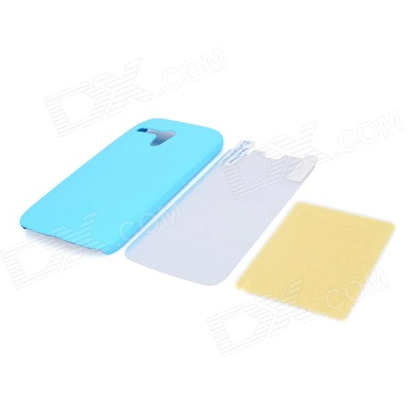 High Quality Protective ABS Back Case + Screen Protector for MOTO G - Sky Blue