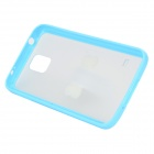 Protective PC + TPU Matte Back Case + U Shape Stand for Samsung Galaxy S5 - Light Blue + White