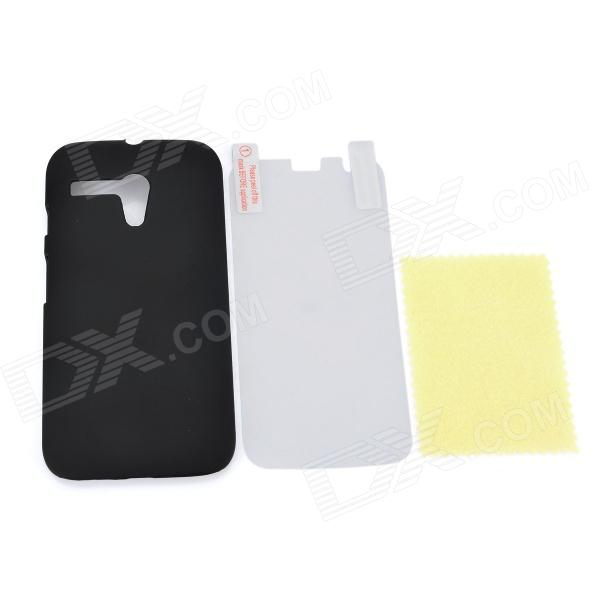 Protective ABS Back Case + HD Screen Protector for MOTO G - Black