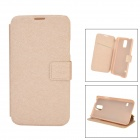 High Quality Classic Protective Flip Open PC + PU Case w/ Stand / Card Slot for Samsung Galaxy S5