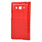 Flip Open PC + PU Case w/ Display Window for Samsung G7106 - Red