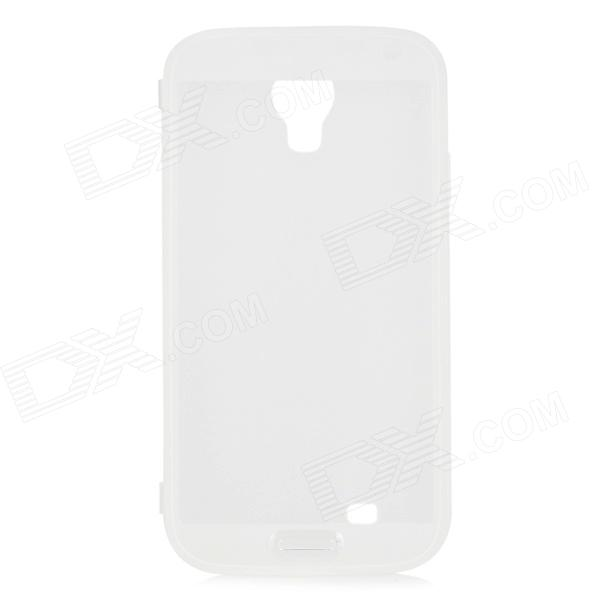 HS-S4P01T Protective TPU Case w/ Anti-dust Cover for Samsung Galaxy S4 i9500 - White protective pc tpu back case for iphone 5 w anti dust cover lavender purple