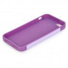 Protective PC + TPU Back Case for IPHONE 5 w/ Anti-dust Cover - Lavender + Purple