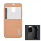 ROCK TZ-S5001GD Protective Flip Open PC + TPU Case w/ Display Windown for Samsung Galaxy S5
