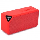 X3 JL-100FM Tragbare Bluetooth V2.1 Lautsprecher - Red