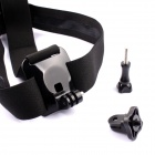 Conveniente Outdoor Sports Plastic Head Strap Band para GoPro Hero 4 - Black